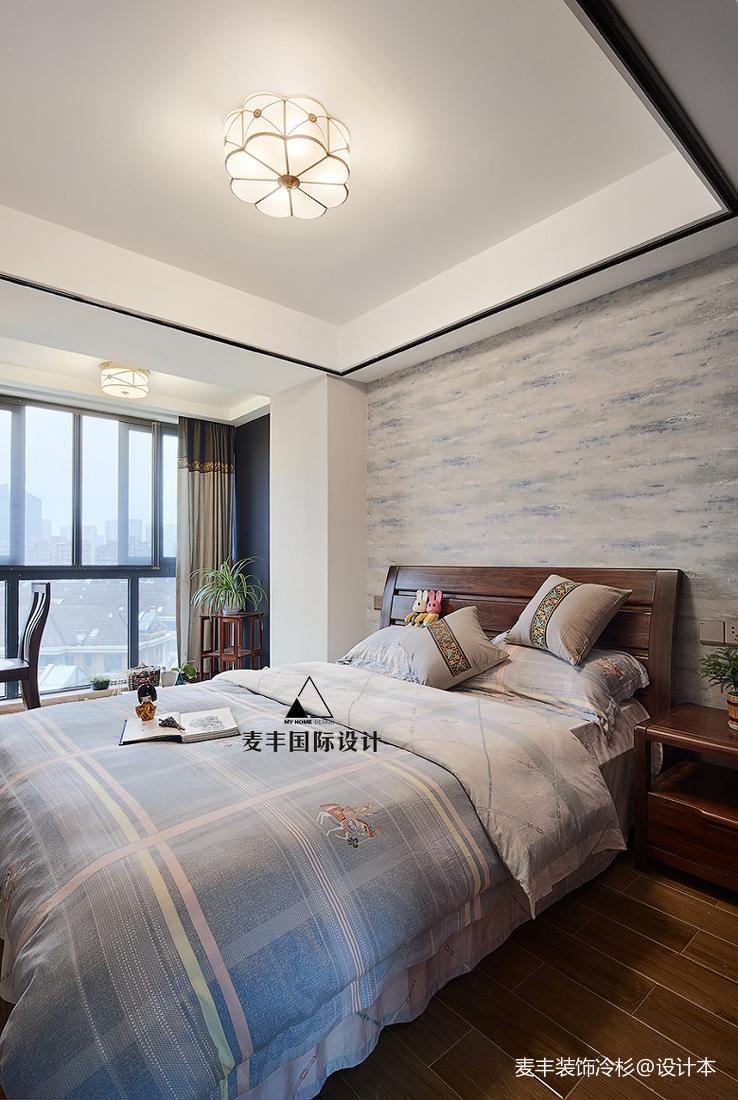 优雅85平中式三居卧室装修效果图