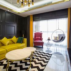 精美84平方二居客厅混搭装饰图片