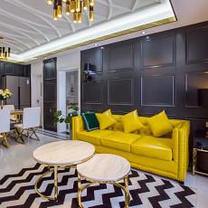 热门大小88平混搭二居客厅装修设计效果图片大全