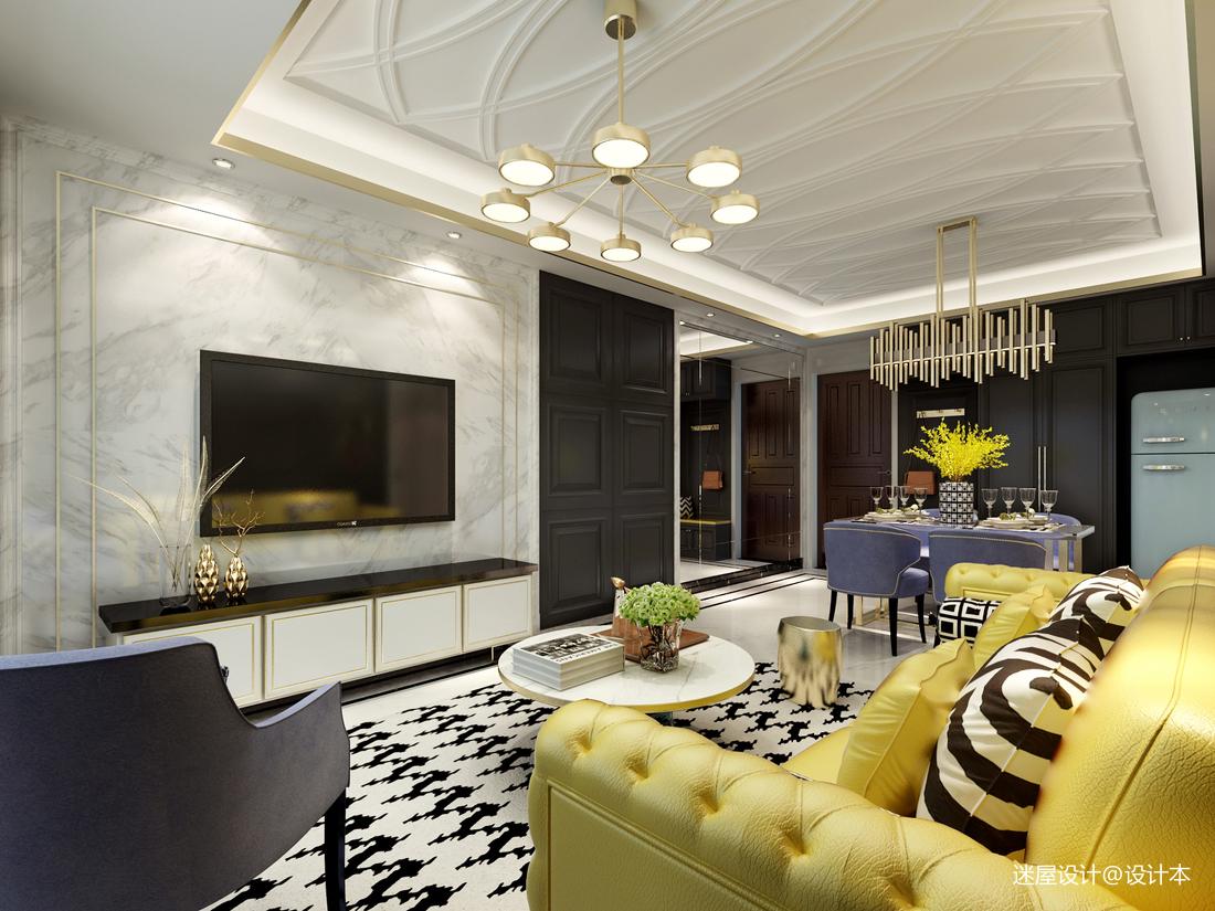 一个人住102㎡,改动一扇门,变大衣帽间,客厅配色美的像王妃_3294376
