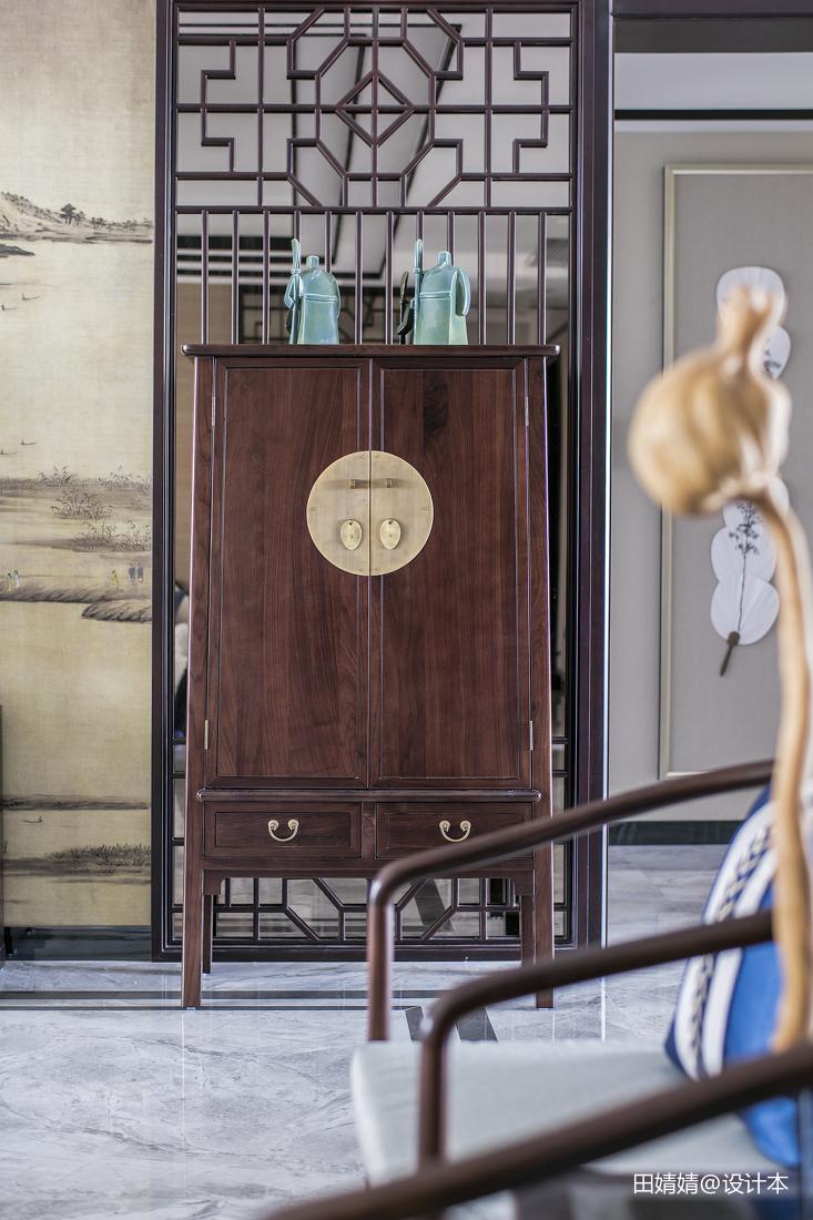 精美面积144平别墅客厅中式装修效果图片