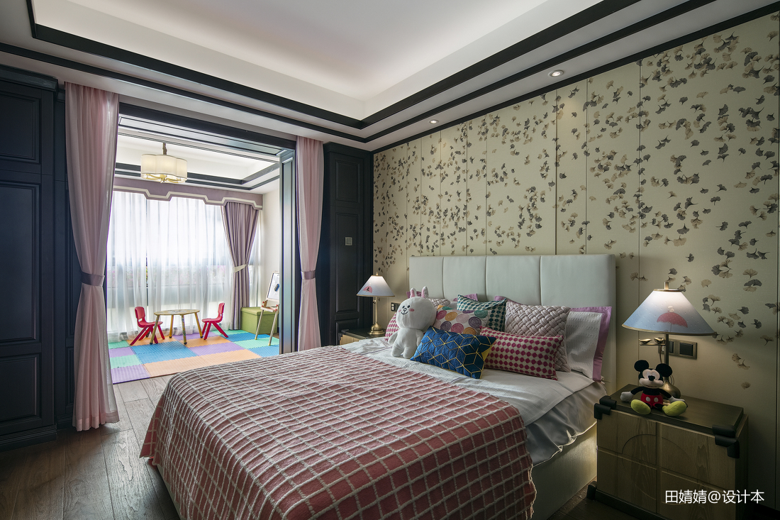 精美116平米中式别墅儿童房装修效果图片大全