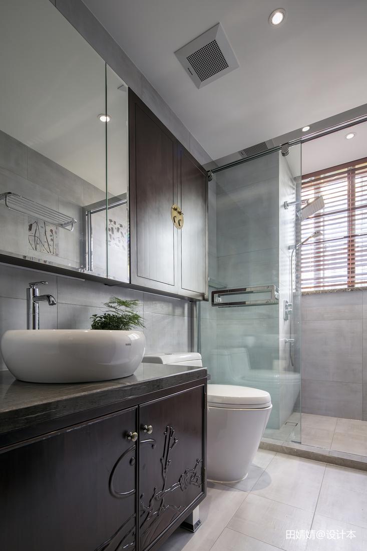 中式实木浴室柜