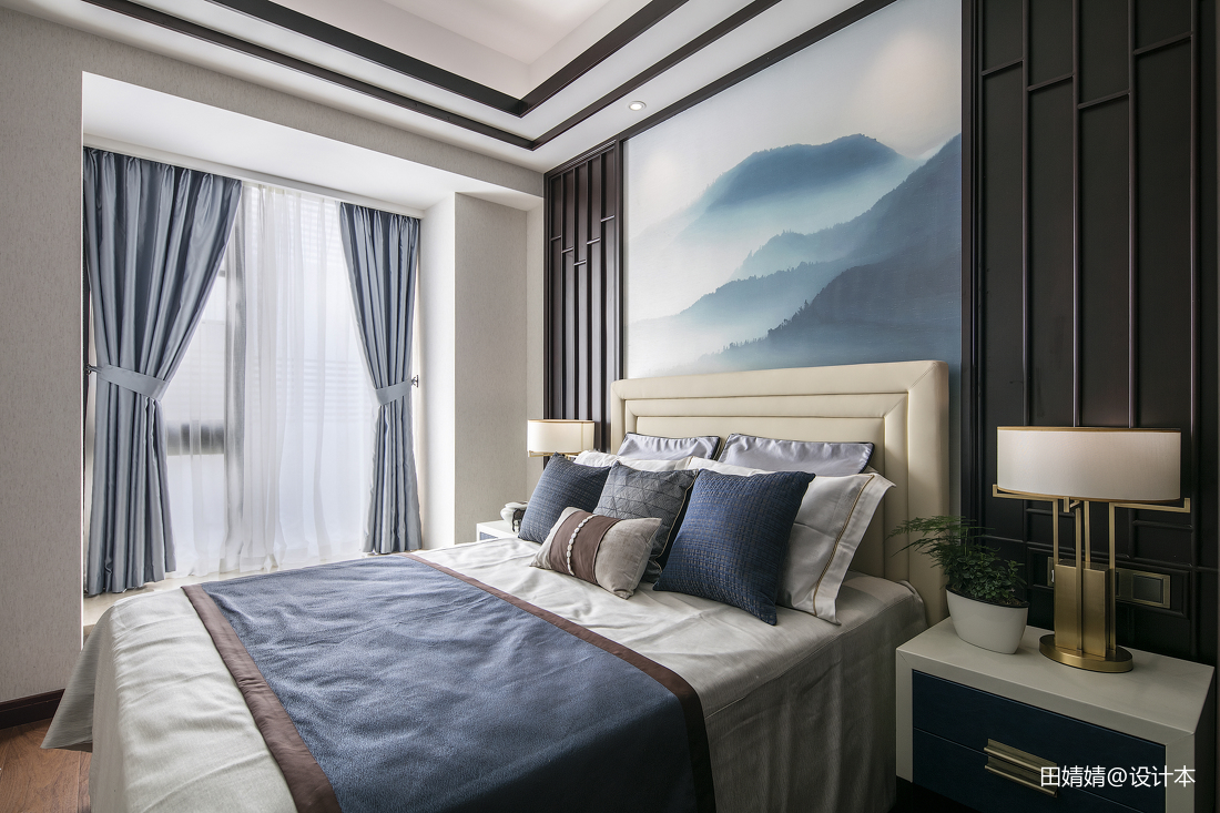 热门113平米中式别墅卧室效果图