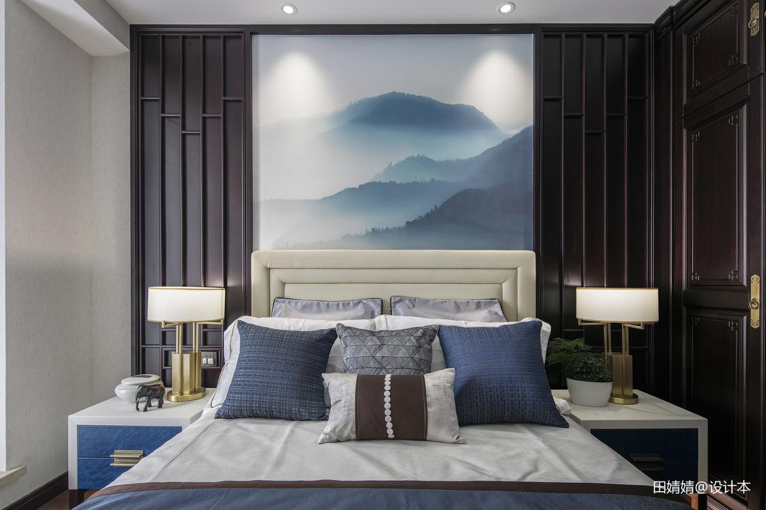 精选122平米中式别墅卧室效果图片欣赏