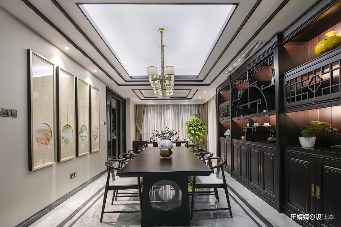热门别墅餐厅中式装修设计效果图片欣赏
