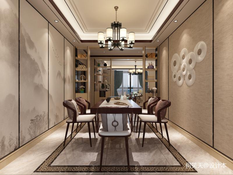 兰亭香樟-餐厅包厢-新中式风格