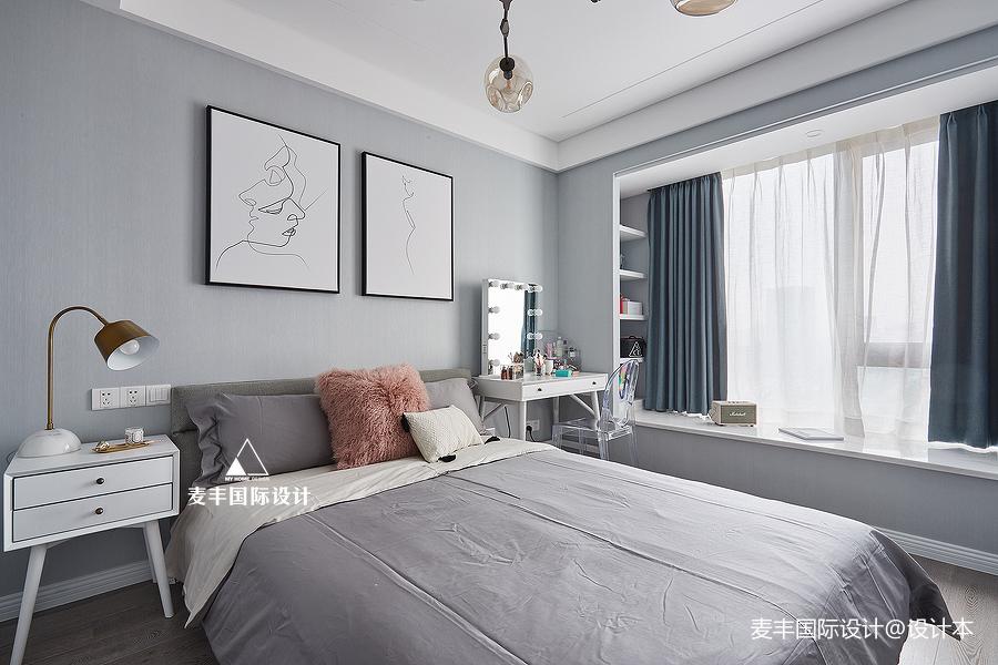 2018面积128平现代四居卧室装修欣赏图片大全