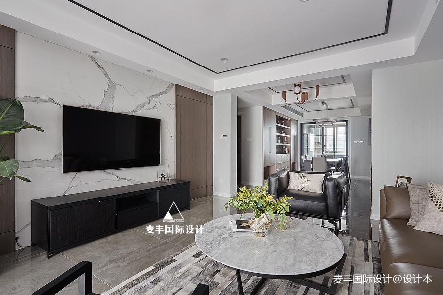 精选110平米四居客厅现代装修实景图片大全