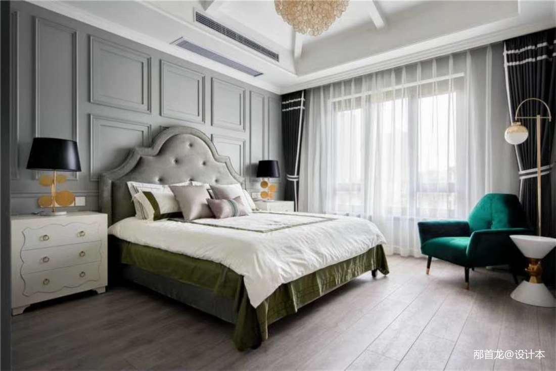 2018精选面积95平三居卧室装修设计效果图片大全