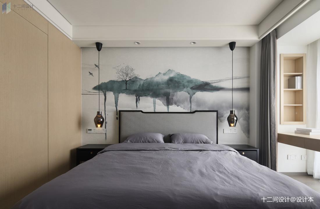 92平米三居卧室混搭装修效果图片欣赏