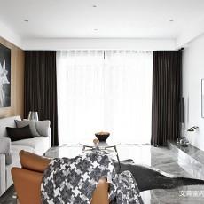 2018精选面积107平现代三居客厅装修图片