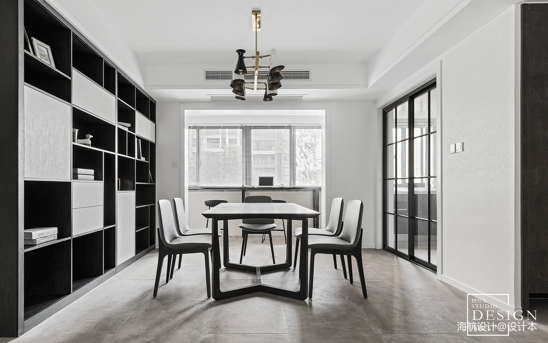 2018精选面积102平现代三居餐厅装修效果图片