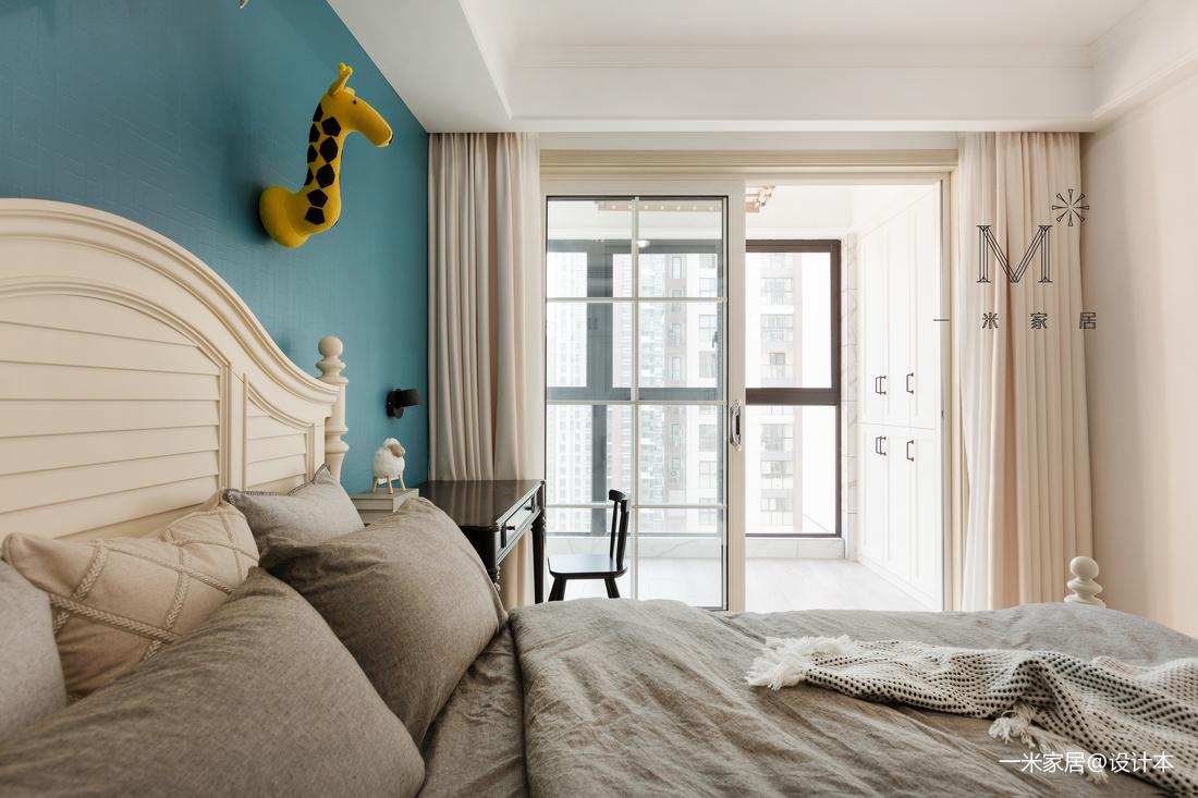 明亮101平美式三居客厅案例图