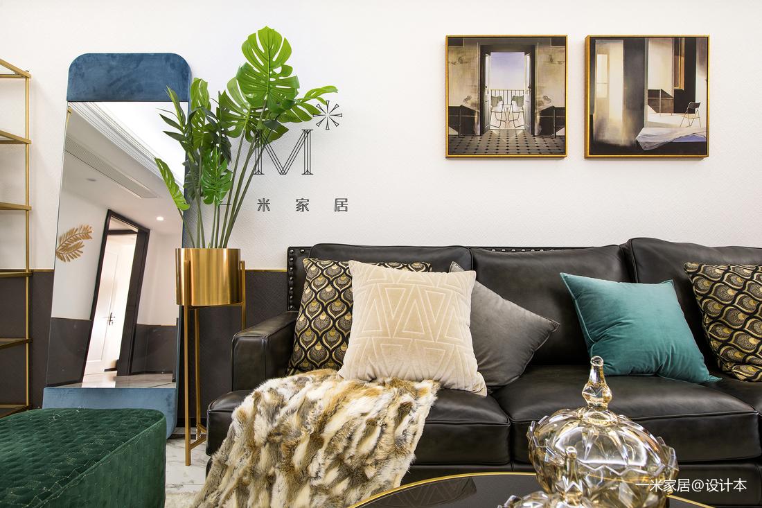 温馨140平美式三居装修设计图