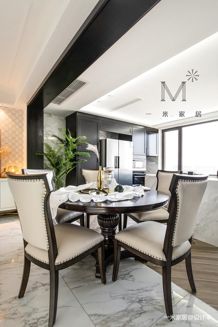 明亮107平美式三居餐厅设计美图