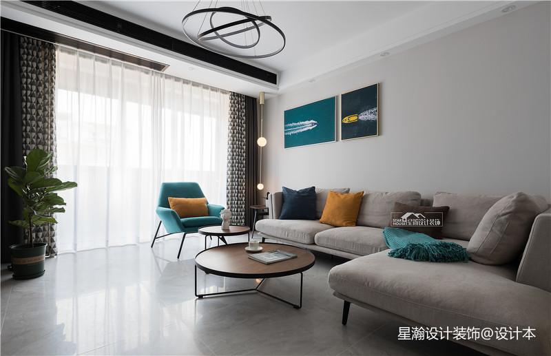 201885平方二居客厅简约装修设计效果图片