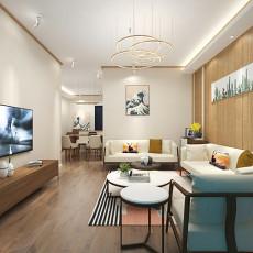 热门101平米三居客厅日式装修图片