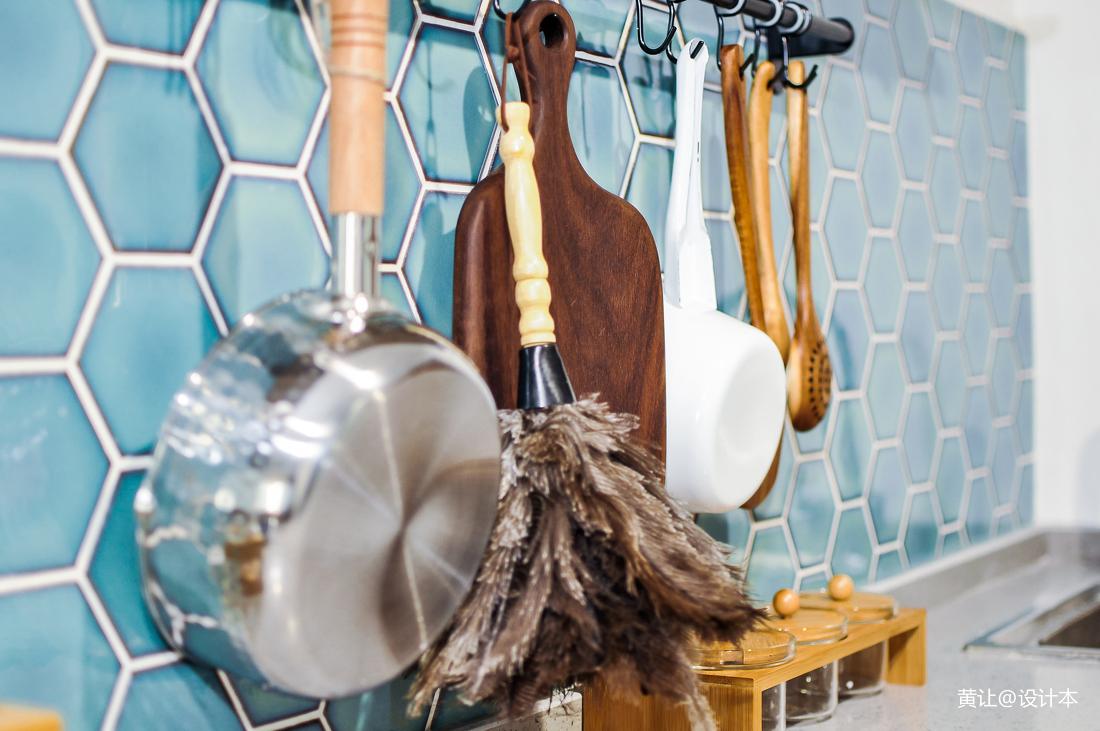 2018面积76平小户型厨房混搭装修设计效果图