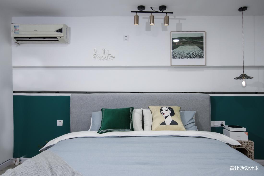 2018面积90平小户型卧室混搭装修设计效果图片大全