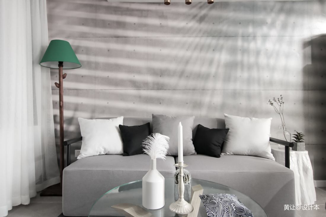 精美86平米混搭小户型客厅装修设计效果图片