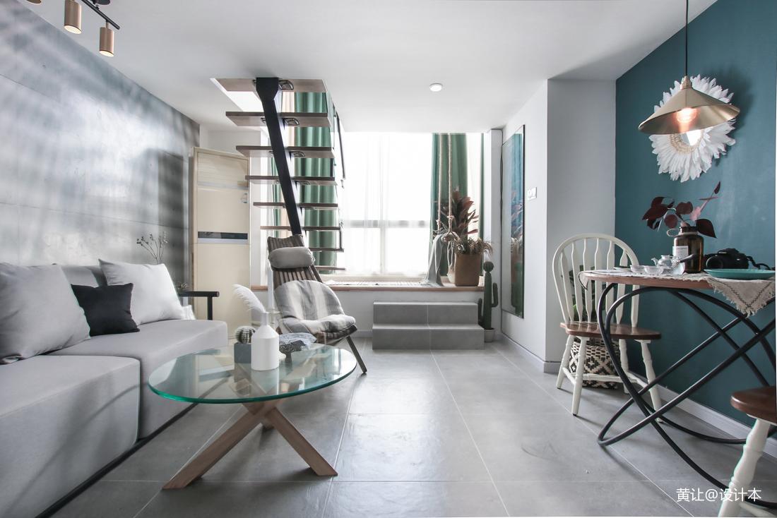 轻奢40平混搭小户型客厅装饰图片