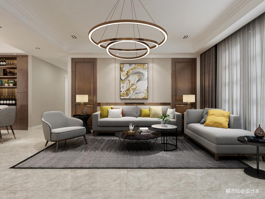 2018精选117平米四居客厅现代效果图片