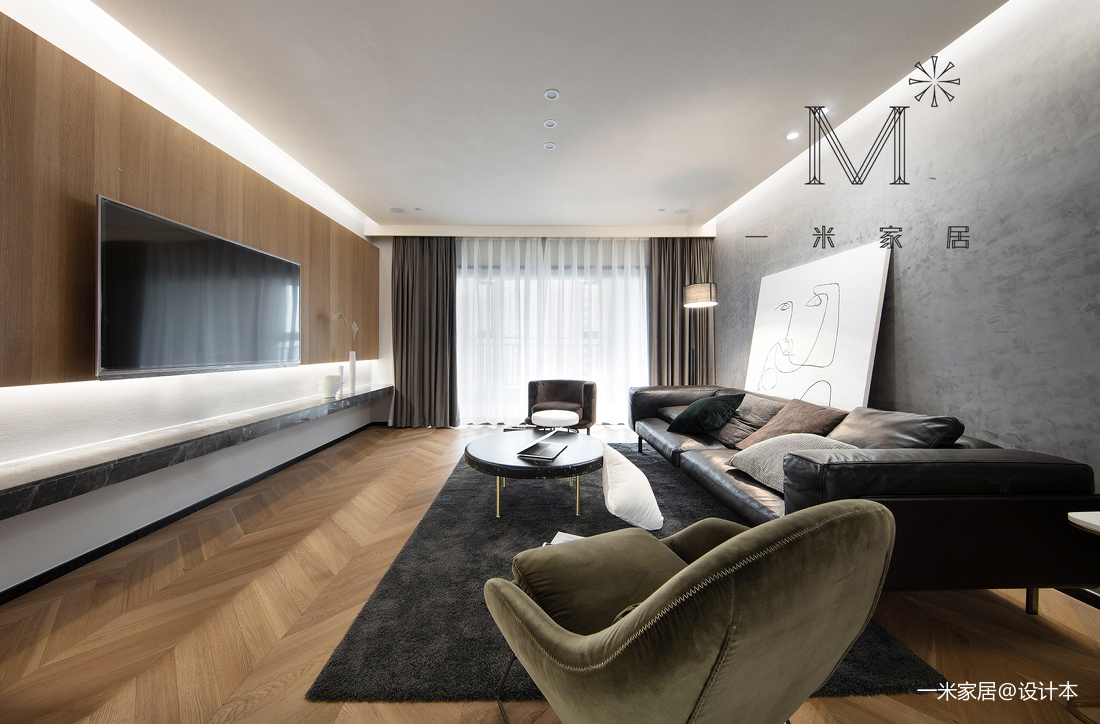 温馨74平北欧三居装修装饰图