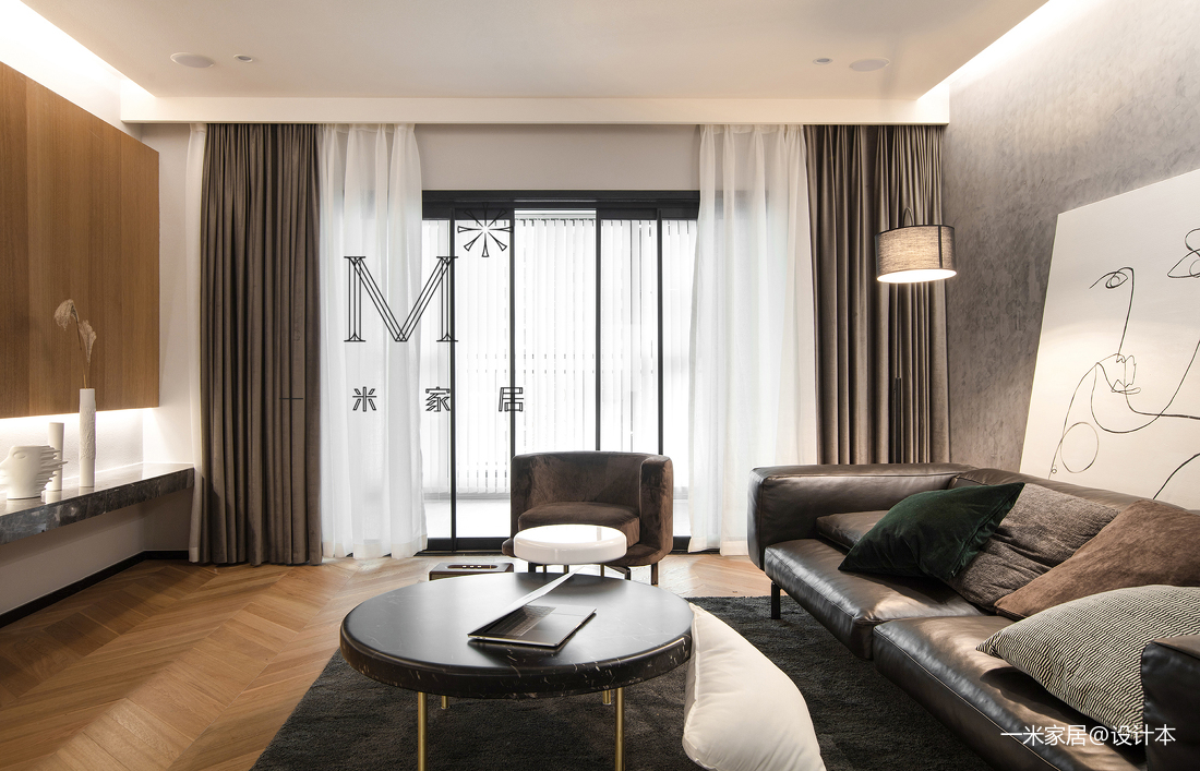 华丽121平北欧三居客厅装修图片