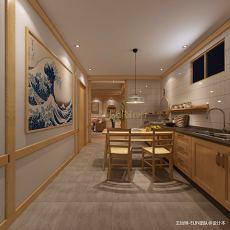 精美日式复式厨房装饰图片大全