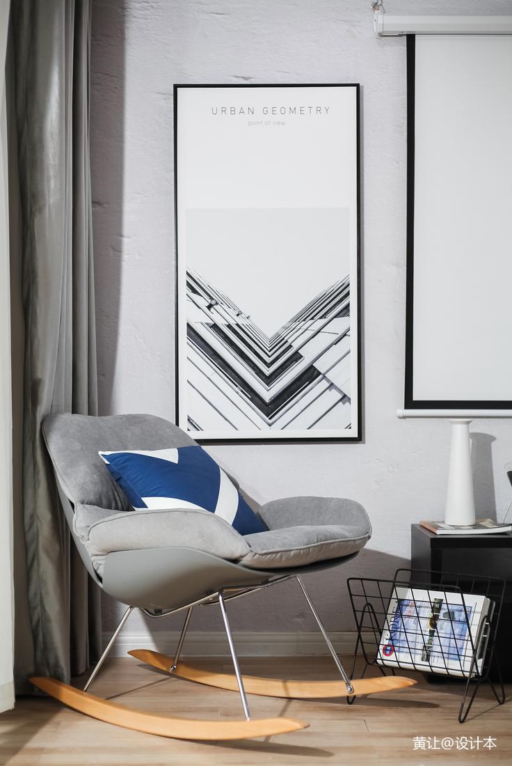 明亮30平现代小户型休闲区装饰图