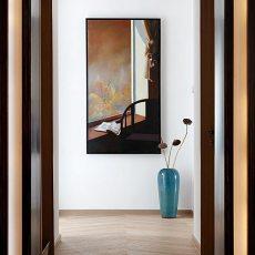 热门110平米中式别墅过道效果图片欣赏