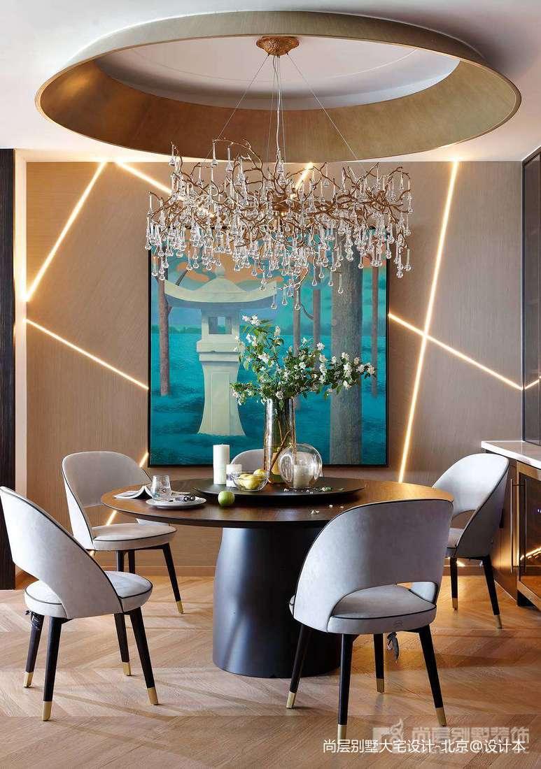 温馨301平中式别墅餐厅设计美图