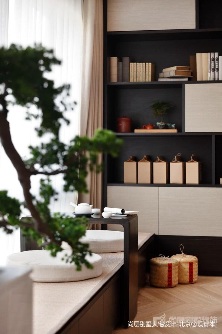 热门114平米中式别墅休闲区设计效果图