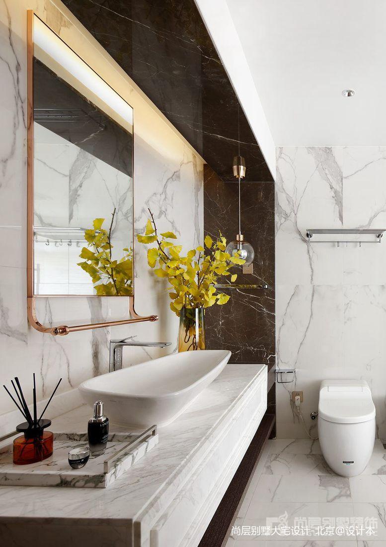 2018119平米中式别墅卫生间装修设计效果图
