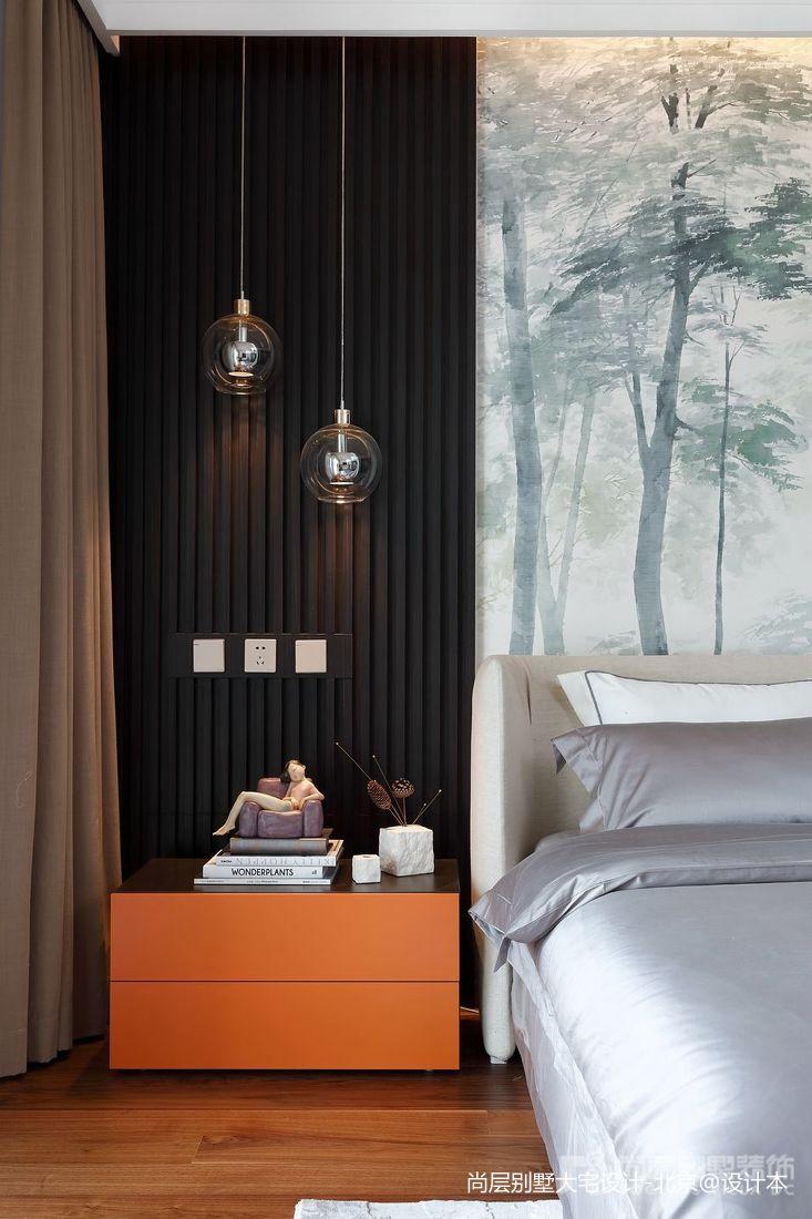 热门114平米中式别墅卧室效果图