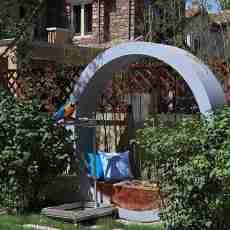 精美面积126平别墅花园中式效果图片大全