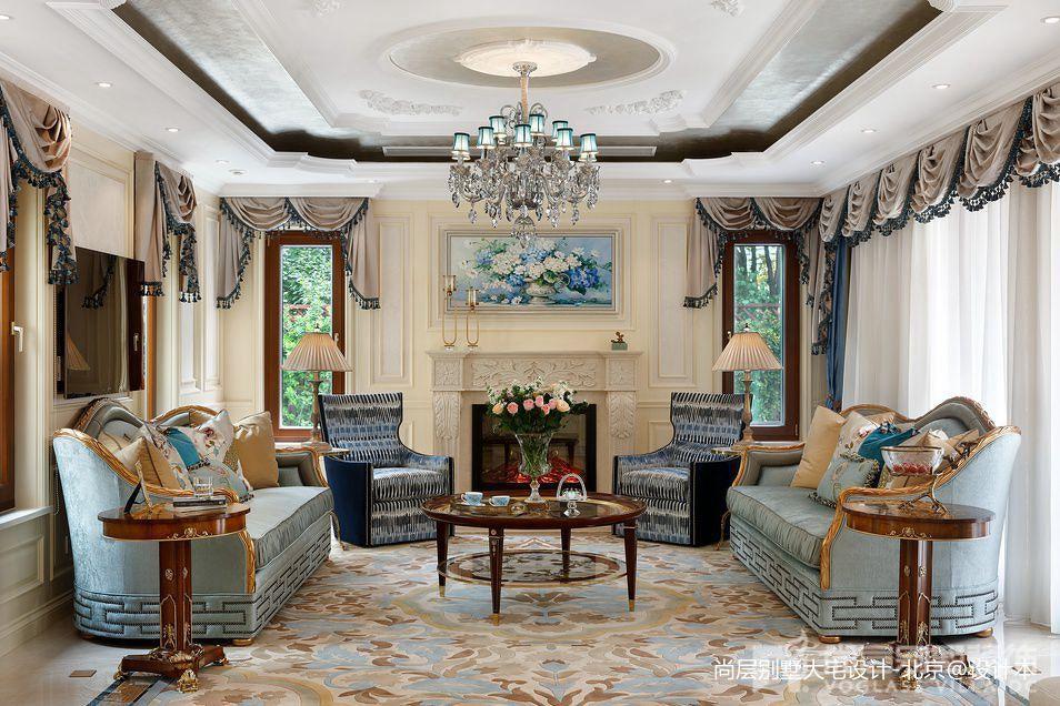 精美140平米中式别墅客厅装修欣赏图片
