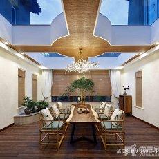 精选面积121平别墅餐厅中式实景图片欣赏
