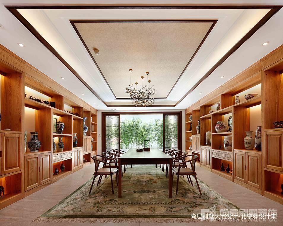 精选120平米中式别墅休闲区装修效果图片