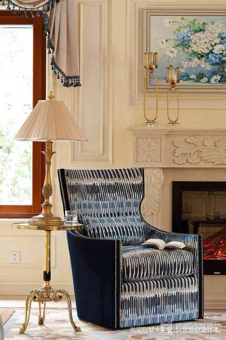 139平米中式别墅客厅装饰图片