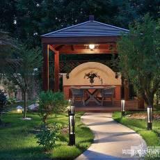 热门别墅花园中式效果图片大全