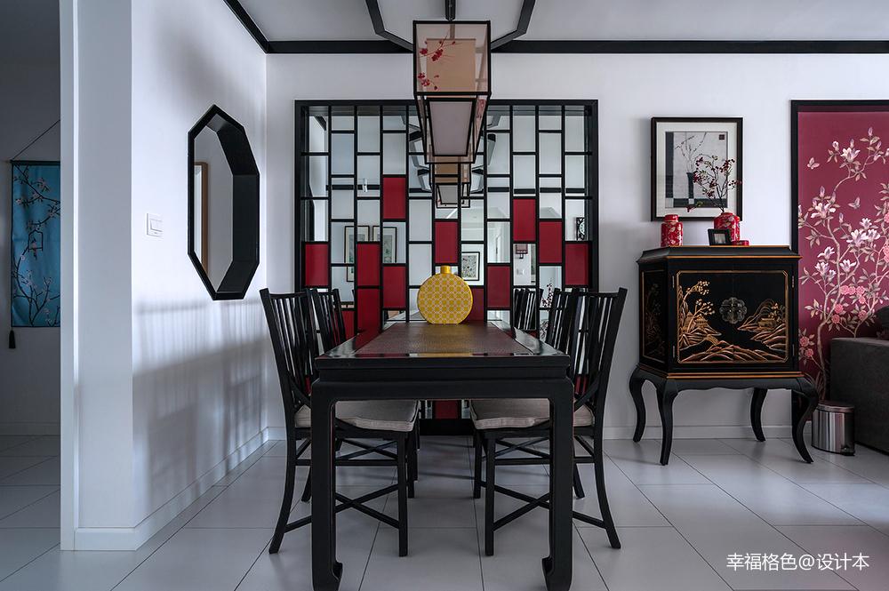 简洁71平中式三居餐厅案例图