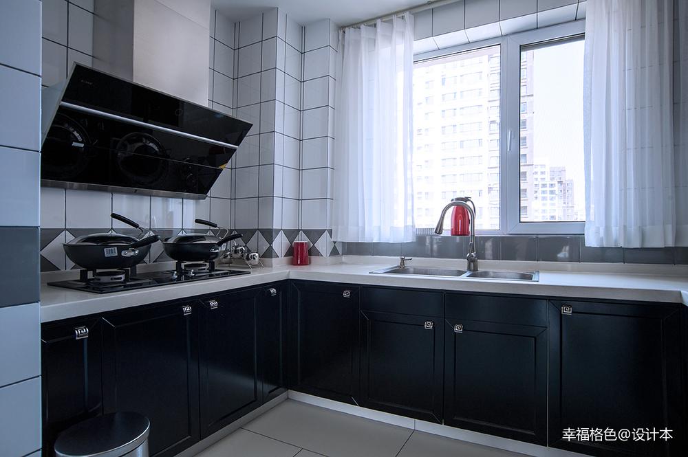 2019110平中式三居厨房装修装饰图