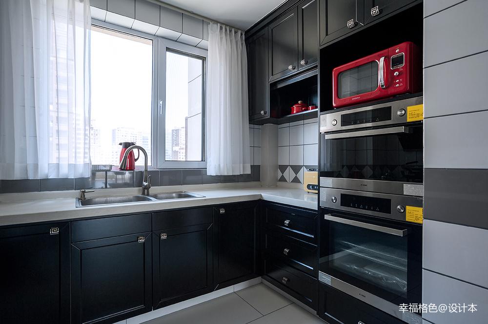 浪漫85平中式三居厨房装修设计图