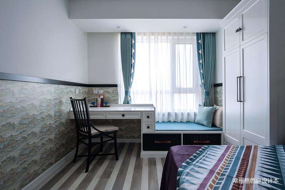 明亮123平中式三居卧室装修案例