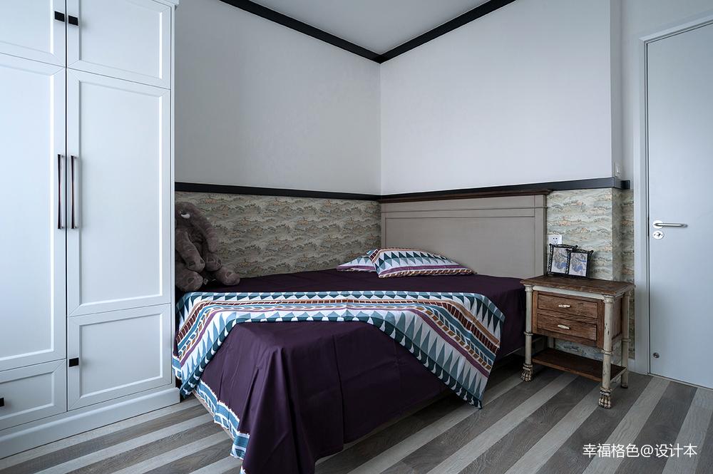 浪漫100平中式三居卧室装修设计图