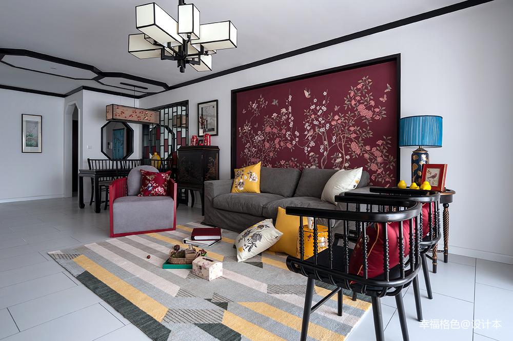 优美84平中式三居客厅装修装饰图