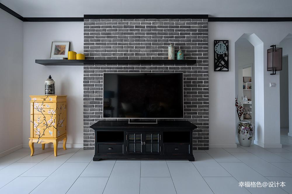 浪漫105平中式三居客厅设计美图