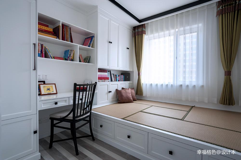 温馨91平中式三居卧室图片大全